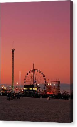 Funtown Pier At Sunset II - Jersey Shore Canvas Print