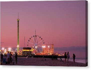 Funtown Pier At Sunset IIi - Jersey Shore Canvas Print