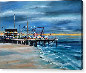 Funtown Pier...before Canvas Print by Diane Hutchinson