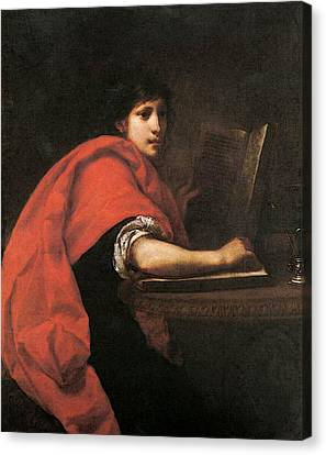 Furini Francesco St John The Evangelist Canvas Print