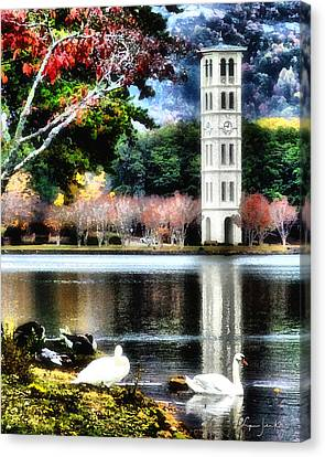 Furman University Bell Tower Canvas Print by Lynne Jenkins