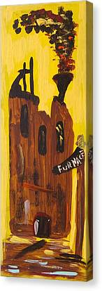 Canvas Print featuring the painting Furnace 3 Today by Mary Carol Williams