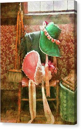 Furniture - Chair - Bonnets  Canvas Print by Mike Savad