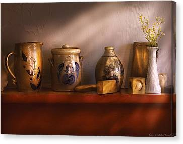 Furniture - Shelf - Family Heirlooms  Canvas Print by Mike Savad