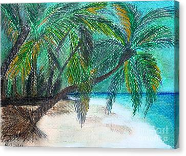 Ghost Story Canvas Print - Further Down The Beach by Barbara Donovan