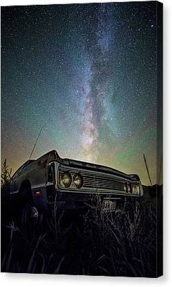 Abandoned Cars Canvas Print - Fury by Aaron J Groen