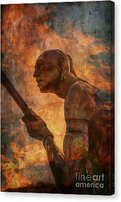 Fury Of Fire  Canvas Print