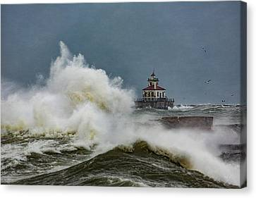 Canvas Print featuring the photograph Fury On The Lake by Everet Regal