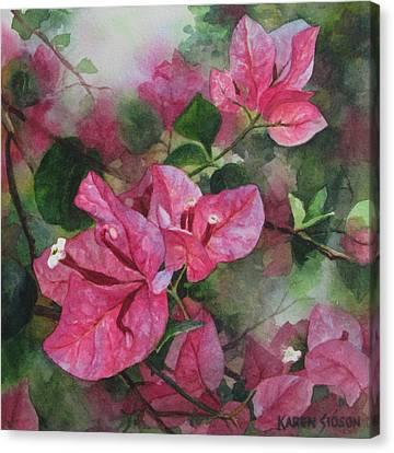 Fuschia Bougainvillea Canvas Print by Karen  Sioson