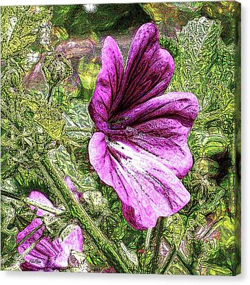 Fuschia Canvas Print - Fuschia Hollyhocks by Peggy De Haan