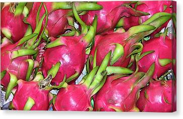 Fushia Fruit Canvas Print by Douglas Barnett
