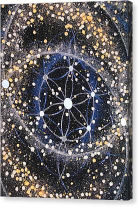 Fusional Love - Detailed View Canvas Print by Murielle Sunier