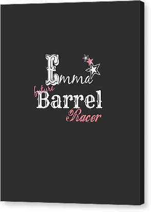 Future Barrel Racer Canvas Print by Chastity Hoff