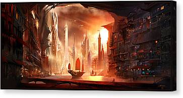 Blades Canvas Print - Future Harbor by Alex Ruiz