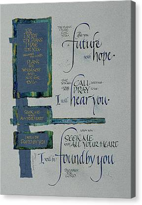 Future Hope II Canvas Print by Judy Dodds