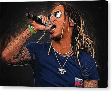 Lil Wayne Art Canvas Print - Future by Semih Yurdabak