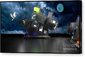 Old School Houses Canvas Print - Future World by Eelco Kruithof