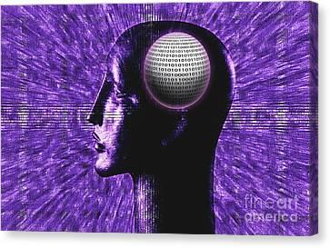 Futuristic Communications Canvas Print by George Mattei