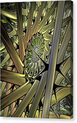 Futuristic Realm Canvas Print by Deborah Benoit