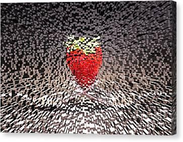 Futuristic Strawberry Canvas Print by Clare Bevan
