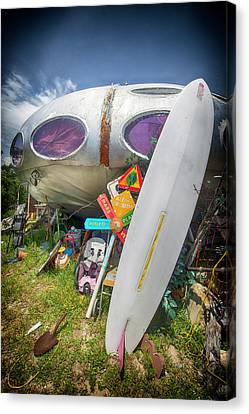 Canvas Print featuring the photograph Futuro House 2 by Alan Raasch