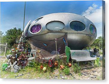 Canvas Print featuring the photograph Futuro House by Alan Raasch