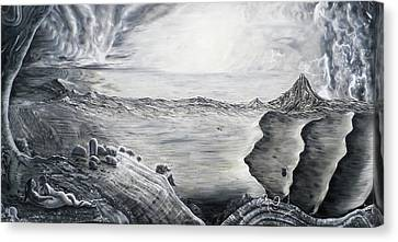 Fuxi And Nu Wa In The Garden Of Eden Canvas Print by Adrienne Martino