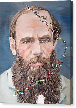 Fyodor Dostoyevsky - Oil Portrait Canvas Print