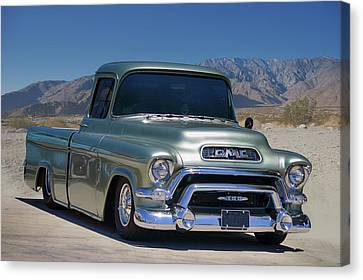 Canvas Print featuring the photograph G M C Pickup by Bill Dutting