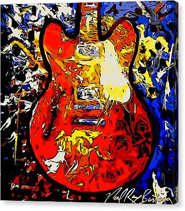 gibson ES-335 rework Canvas Print