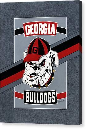 Bulldogs Poster T-shirt Canvas Print