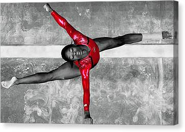 Gabby Douglas Canvas Print by Brian Reaves