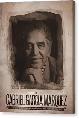 Gabriel Garcia Marquez Canvas Print by Afterdarkness