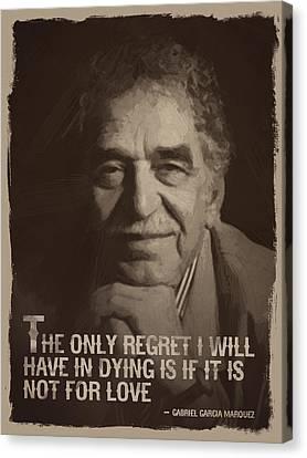 Writer Canvas Print - Gabriel Garcia Marquez Quote  by Afterdarkness