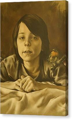 Gabriel Monotone Sketch Canvas Print by Tim Thorpe
