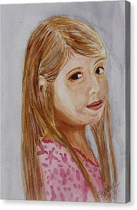 Canvas Print featuring the painting Gabriella by Donna Walsh