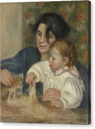 Gabrielle And Jean Canvas Print by Auguste Renoir