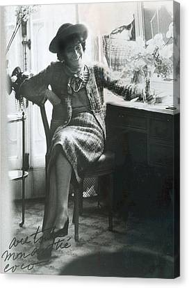 Dressing Room Canvas Print - Gabrielle Coco Chanel, C. Mid 1960s by Everett