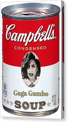 Gaga Gumbo For Little Monsters Canvas Print by John Malone