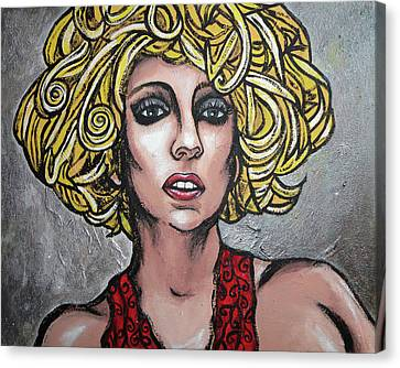 Canvas Print featuring the painting Gaga by Sarah Crumpler