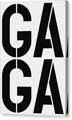 Gaga Canvas Print by Three Dots