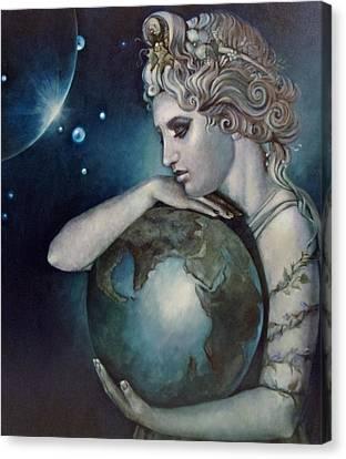 Gaia Canvas Print by Geraldine Arata