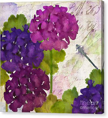 Gaia II Geraniums Canvas Print