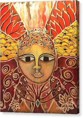 Gaia - Mother Earth  Canvas Print by Corina  Stupu Thomas