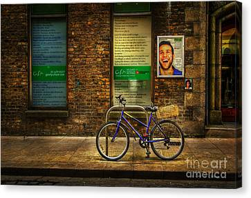 Canvas Print featuring the photograph Gaiety Bicycle by Craig J Satterlee