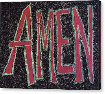 Galactic Amen Canvas Print