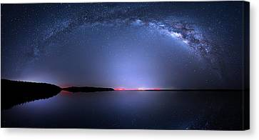 Canvas Print featuring the photograph Galactic Lake by Mark Andrew Thomas