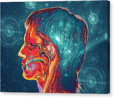 Counter-culture Canvas Print - Galactic Mind by Bear Welch