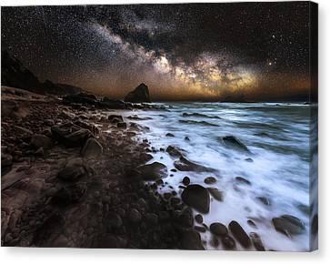 Galactic Warmth Canvas Print by Nick Venton