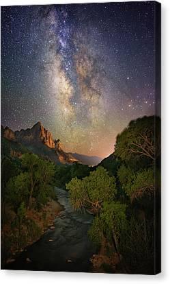 Galactic Watchman Canvas Print